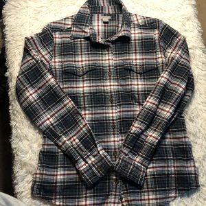 Carhartt women's plaid flannel button down